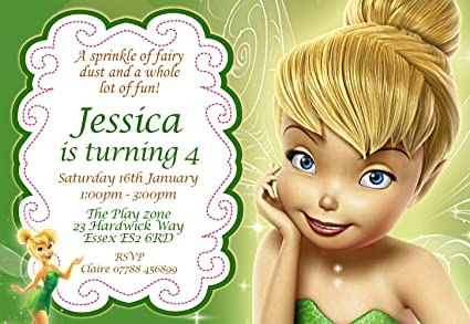Tinkerbell Birthday Party Invitations Envelopes Personalised Click Customize Now For Prices