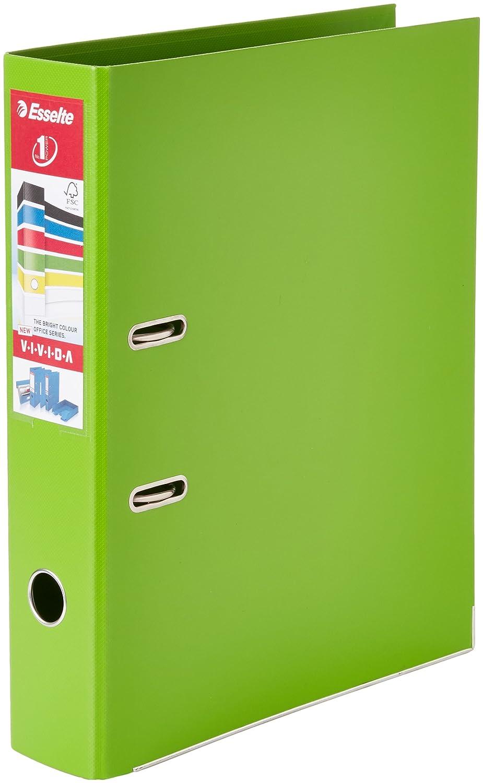 Esselte 48086 - Archivador de palanca (tamaño folio, PVC, lomo 70 mm, 10 unidades), color verde: Amazon.es: Juguetes y juegos
