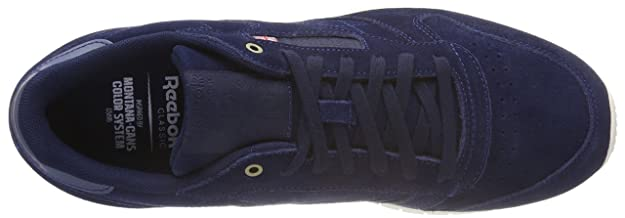 ajustar episodio mimar  Buy Reebok Men's Cl Leather MCC Blue/Chalk Running Shoes - 7 UK/India (40.5  EU) (8 US)(CM9609) at Amazon.in