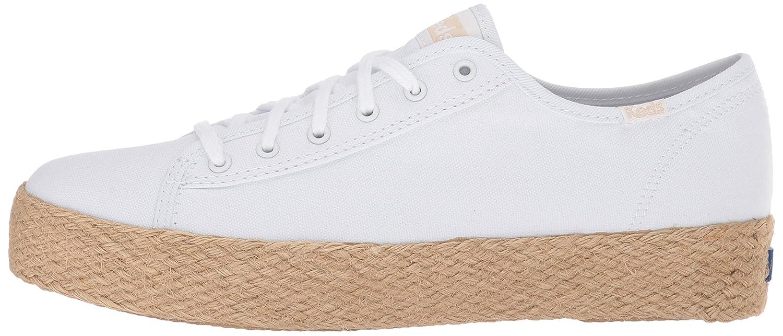 Keds Women's Triple Kick Jute Sneaker B072WBTRYB 11 B(M) US|White