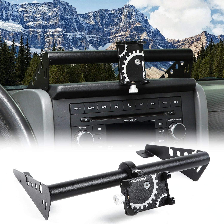 JeCar for Jeep Phone Holder Dash Phone Mount for 2007-2010 Jeep Wrangler JK JKU Rubicon Sahara Sport 2//4 Door