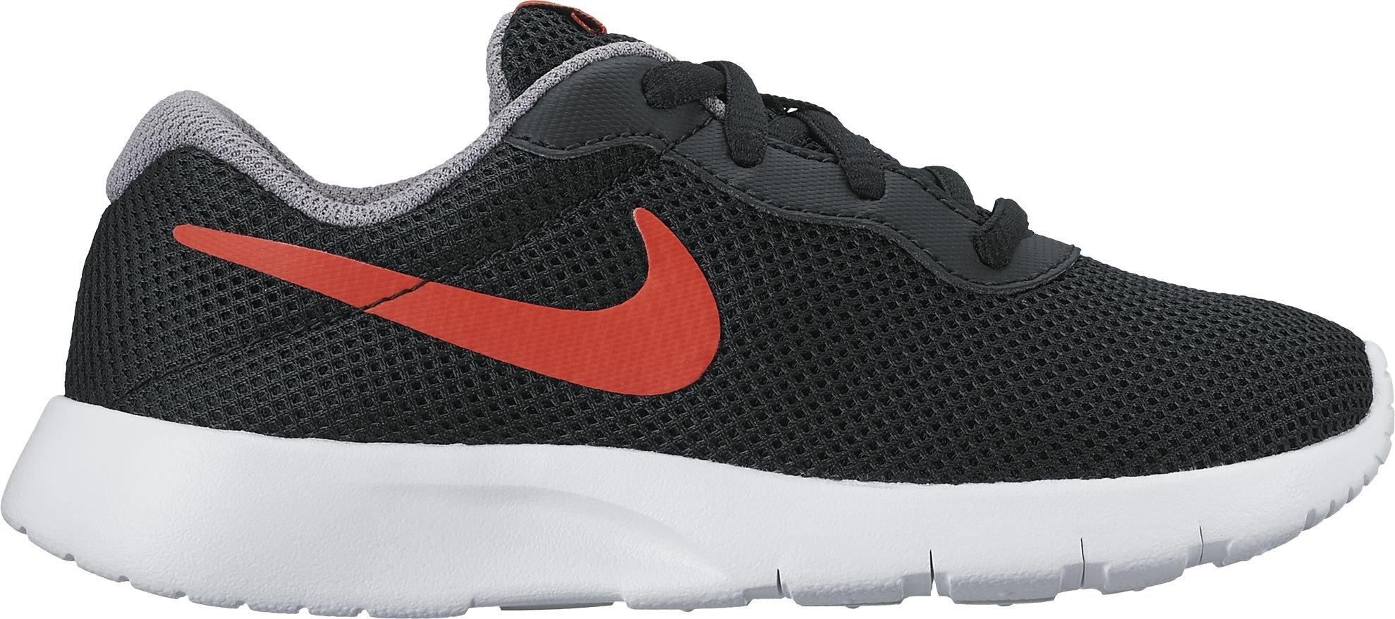Nike Boy's Tanjun (PS) Running Shoes (1 Little Kid M, Black/Max Orange/Cool Grey/White)