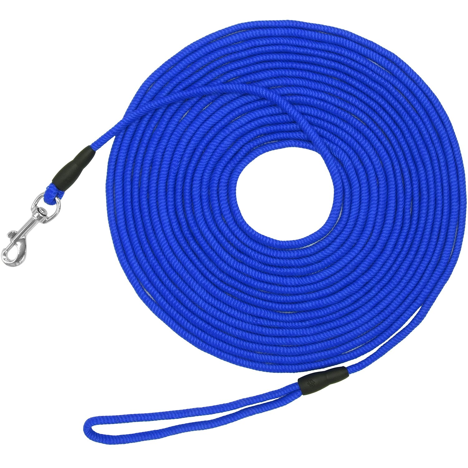 Vcalabashor Long Dog Puppy Obedience Recall Training Agility Rope Leash/Small Dog Check Cord/Young Dog Tracking Leads/Highly Visible and Floats/Blue - 50ft