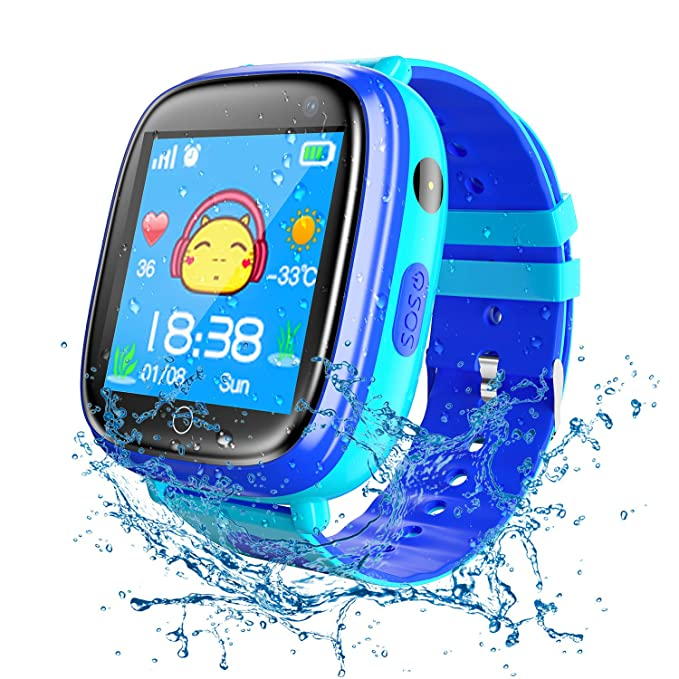 Kids Waterproof Smart Watches Phone, SZBXD GPS Tracker Touchscreen Sports Smartwatch Games Flashlight SOS Alarm Clock Camera Smart Wrist Watch ...