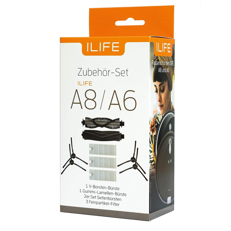 Für ILIFE A4S Roboter Filter Staubsauger Teil Hauptbürste 9-teilig Austausch