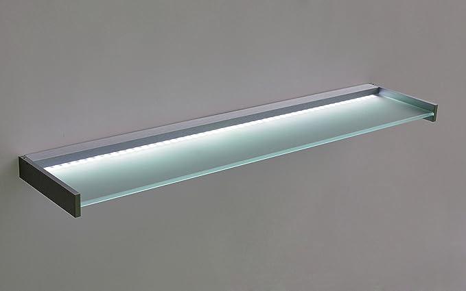 Mensola di vetro led mensola di vetro per parete: amazon.it