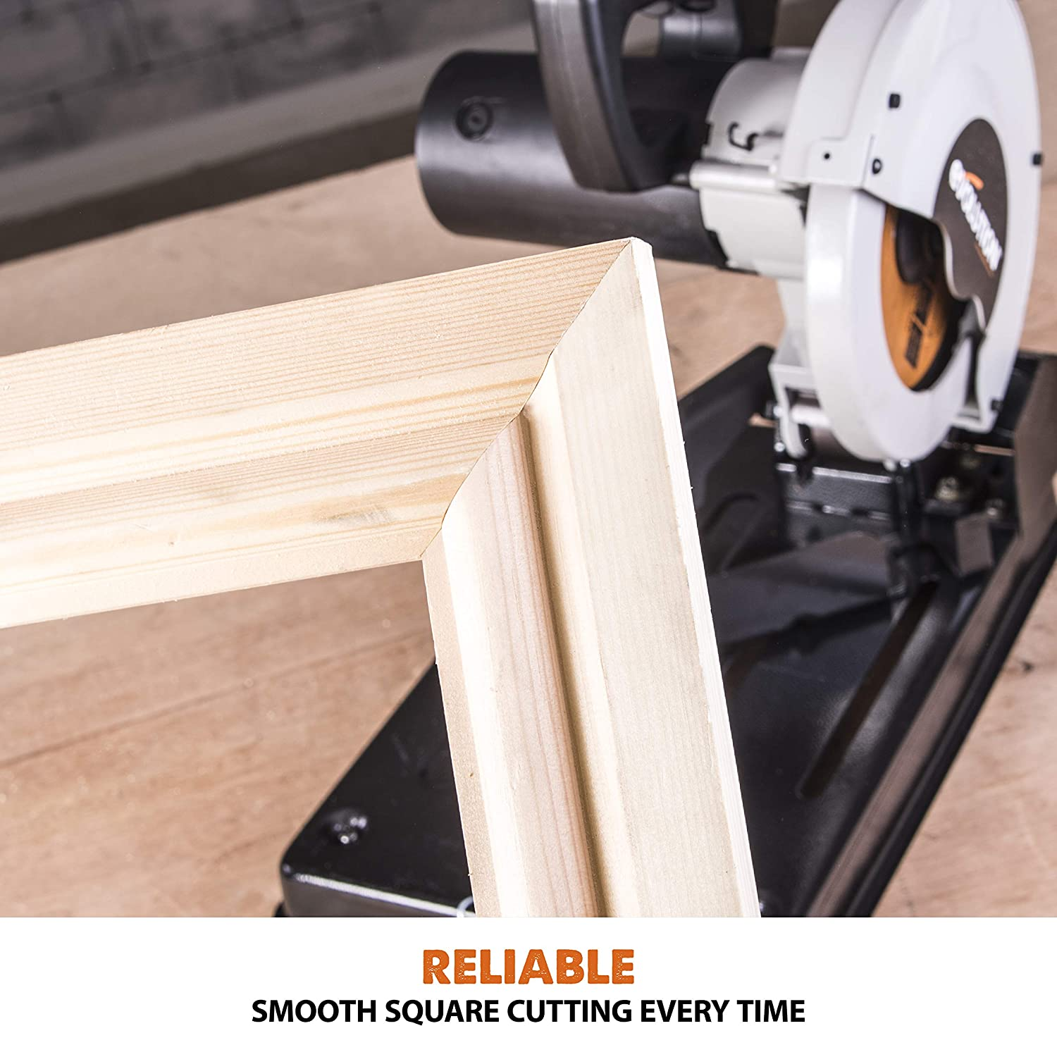 185 mm 185 mm Evolution Power Tools Build RAGE4 Multi-Purpose Chop Saw 230 V with RAGE Multi-Purpose Carbide-Tipped Blade