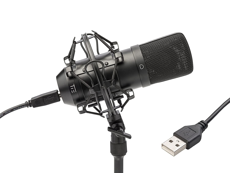 Tie Studio - Micrófono USB, negro 19-90012
