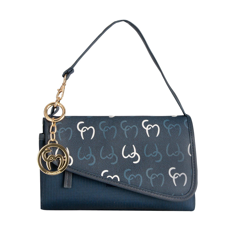 Clevamama Lara Clutch Changing Bag Asphalt