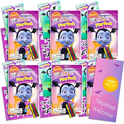 Disney Vampirina Ultimate Party Favors Packs -- Bundle Includes 6 Sets with Stickers, Coloring Books and Crayons (Vampirina Party Supplies): Toys & Games