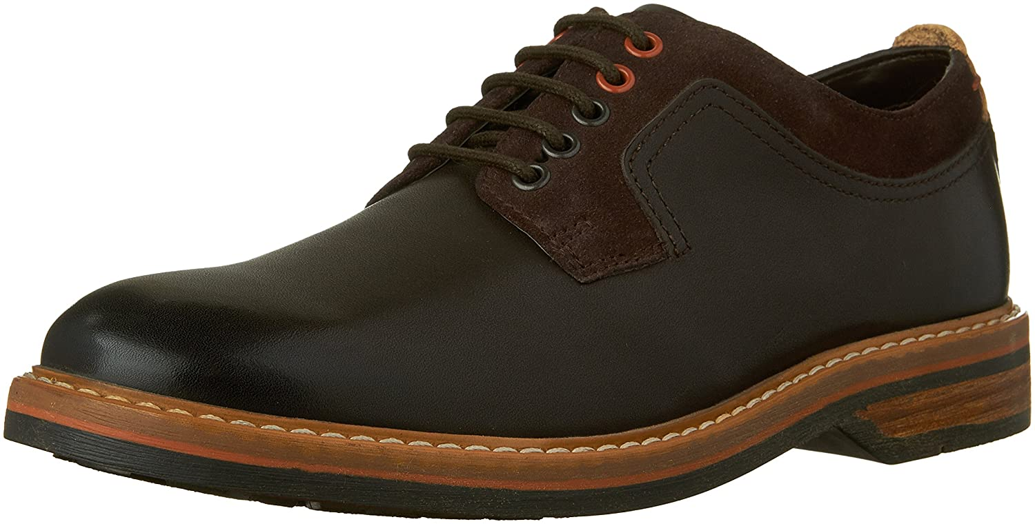 Amazon.com  CLARKS Men's Pitney Walk Dark Brown Leather Oxford 9 D (M)   Shoes dc2c90f52cb6