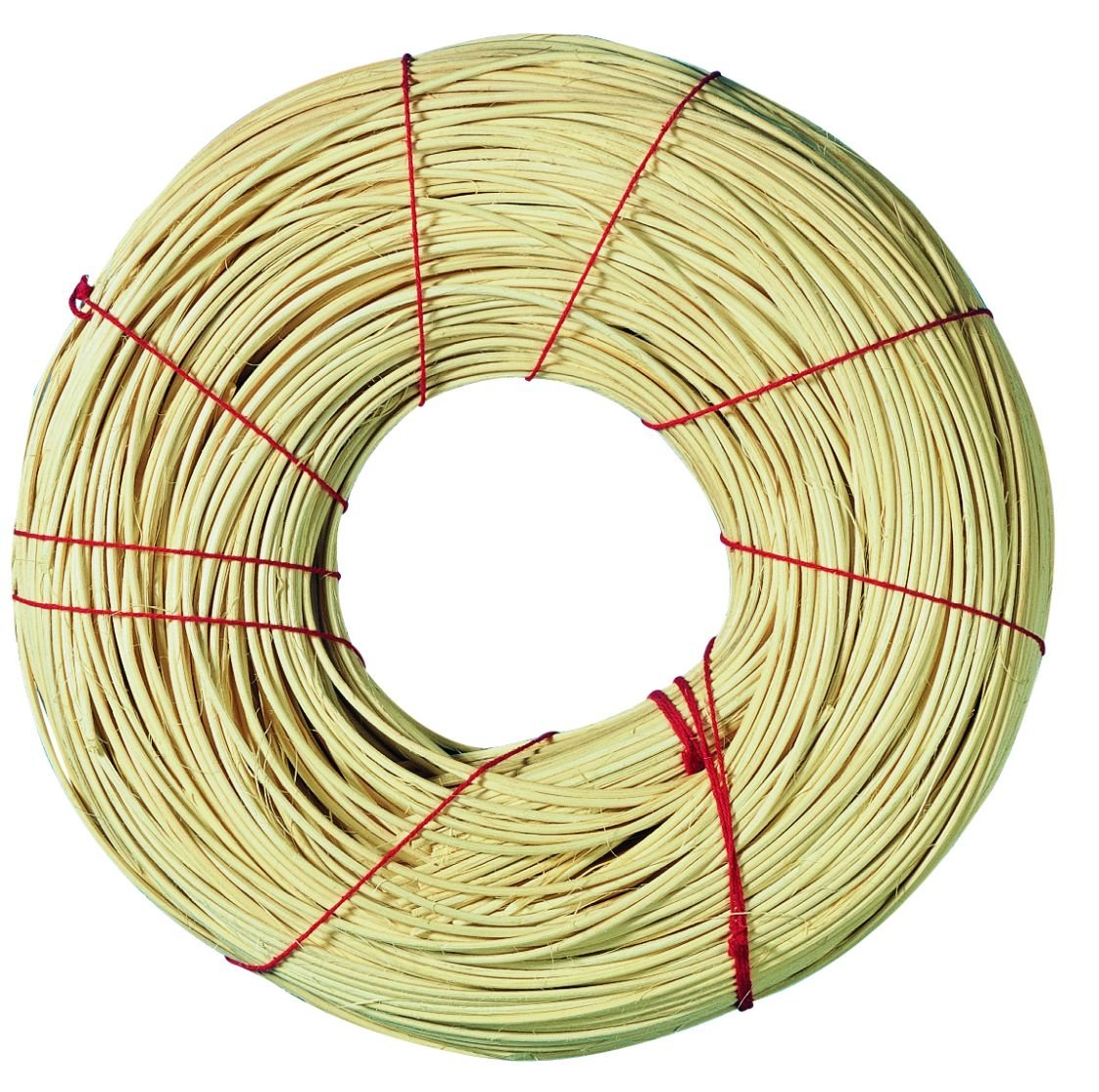 Rayher Red Ribbon Quality Rattan Roll, Natural, 2 mm Diameter, 500 g