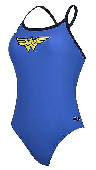 fa7dfc571 Zoggs Wonder Woman Tri-Back - Bañador para Mujer  Amazon.es  Deportes y  aire libre