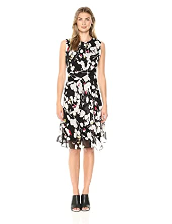 b4426ee4c8 ELLEN TRACY Women s Twisted Front Dress at Amazon Women s Clothing ...