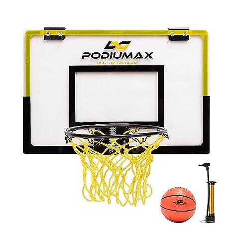 PodiuMax Mini baloncesto aro Set para puerta, Simple pared para ...