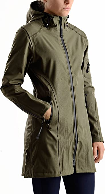 TALLA 46. Ilse Jacobsen Chaqueta impermeable para Mujer