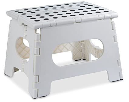 Folding Step Stool   The Lightweight Step Stool Is Sturdy Enough To Support  Adults And Safe