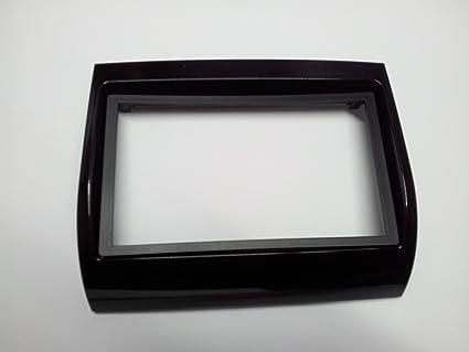 Mascherina per autoradio doppio DIN colore nero