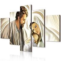 Lupia Vogue quadro su legno 5 pezzi Nativity Brown 66x115 cm