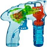 Toddlers Love Bubbles - Number One Selling Pack of 2 Plastic Bubble Guns with Light - Ideal Fun Toys & Games Present Gift Idea for Christmas Xmas Stocking Filler Top Ups Birthdays Easter Rewards Treats Pocket Money - Boy Boys Girl Girls Kids Children Child Suitable For Age 3+ 2 Supplied