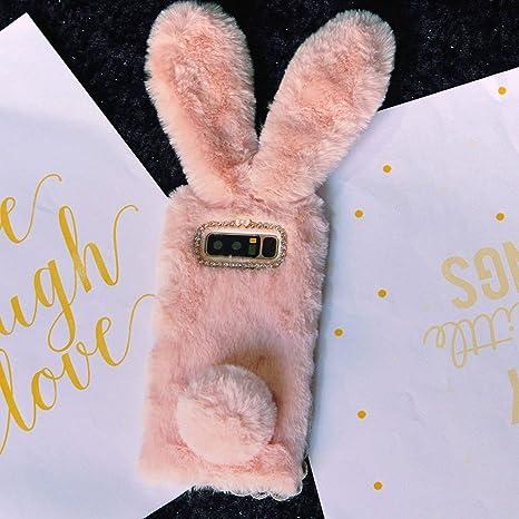 Luxury Bunny Rabbit Fur Plush Case