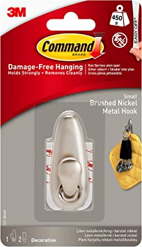 Command Forever Classic Metal Hook Brushed Nickel Large FC13-BN-ES 1-Hook