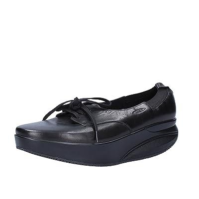 MBT Moccasins / Loafer Women 6/6.5 US - 37 EU Black Leather