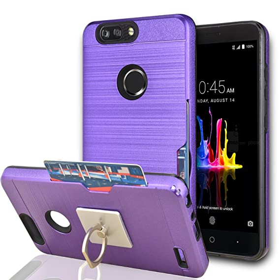 new product 25fc0 06a70 ZTE Blade Z Max / ZTE Blade Zmax Pro 2/ ZTE Sequoia Case With Phone  Stand,Ymhxcy [Credit Card Slots Holder][Brushed Texture] Hybrid Dual Layer  ...