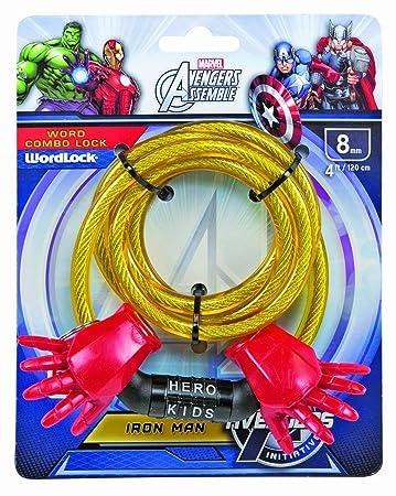 Wordlock Marvel Iron Man Bike Lock Sports Outdoors