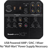 Creative Sound Blaster K3+ Audio Interface and Mixer for Live Streaming and Recording with XLR, Phantom Power, Auto-Tune, Dual Headphone Monitoring, and Reverb Effects