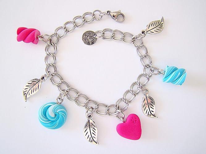 marque populaire meilleures offres sur performance fiable Bracelet enfant patefimo bonbons rose bleu, bijoux fantaisie ...