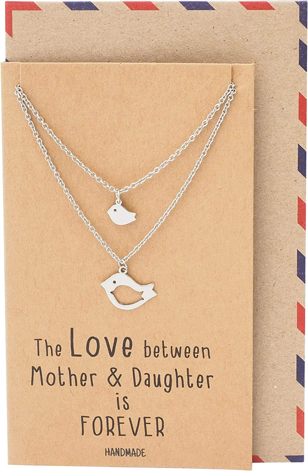 Mother /& Daughter HEART CUTOUT 2 x Necklace UK Stock