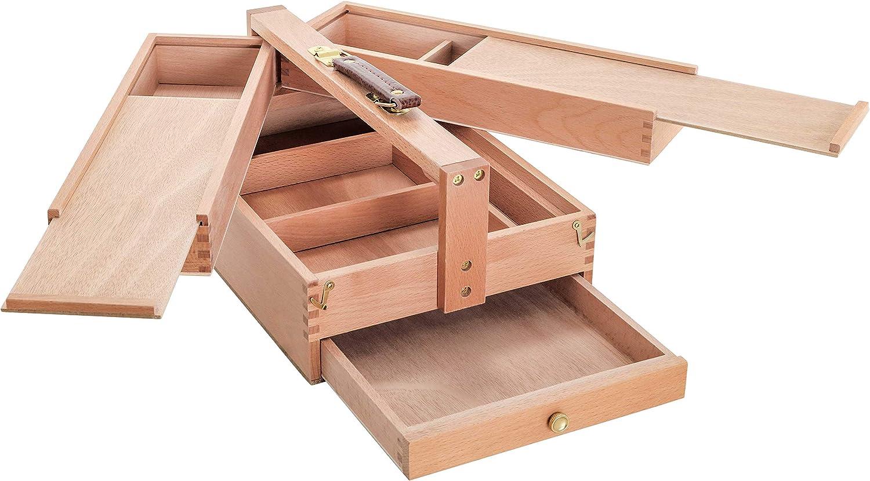 Art Supplies Organizer Craft Storage Box Container Artist Large Toolbox Wooden