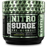 NITROSURGE Pre Workout Supplement - Energy Booster, Instant Strength Gains, Clear Focus, Intense Pumps - Nitric Oxide Booster