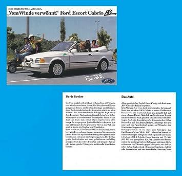 Amazon.com: 1990 FORD ESCORT XR 3i CABRIO *BB* BORIS BECKER ...