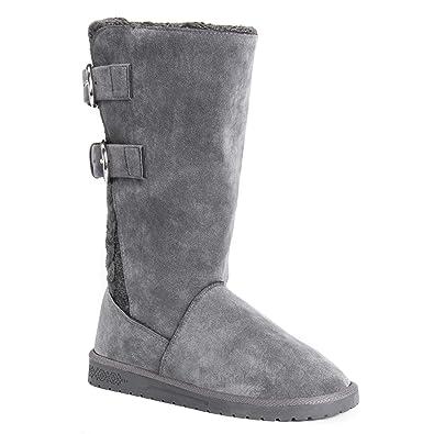 32142b2c683 MUK LUKS Women's Jean Boots-Grey Fashion