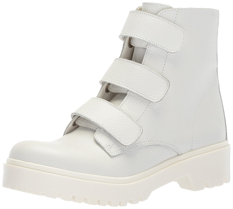 Steve Madden Women's Wayne Fashion Boot B074PKF77T 5.5 B(M) US|White Leather