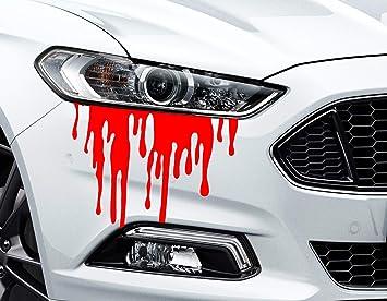 Hr Werbedesign 2x Aufkleber Liquid Flüssig Blood Blut Auto Blood Bleeding Car Sticker Xvx Auto Auto