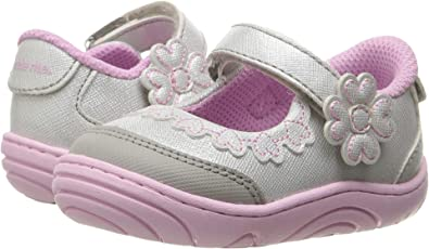 63e2e0b14 Stride Rite Baby Girl's Alda (Infant/Toddler) Silver Synthetic 4.5 M US  Toddler