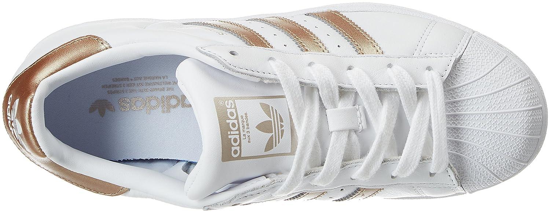 hot sale online 81614 28010 adidas Superstar W, Baskets Femme, Blanc (FtwblaCiberm 000), 40 23 EU  Amazon.fr Chaussures et Sacs