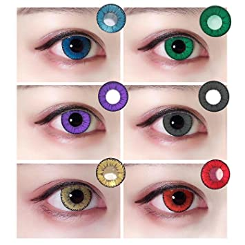 5e34194807f Amazon.com   Women Multi-Color Attractive Fashion Contact Lenses Cosmetic  Makeup Eye Shadow 1 Piece(Red