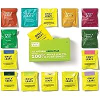 Onlyleaf 100% Natural Green Tea Sampler Box, 15 Tea Bags