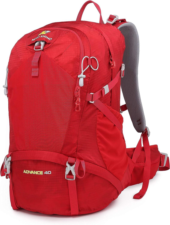 N NEVO RHINO Internal Frame Hiking Backpack 40/50/60/65/80L, Moutain Climbing Camping Backpack Daypack for Women&Men