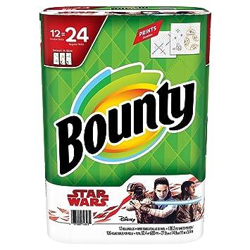 Bounty select-a-size toallas de papel, Star Wars Edition (12 rollos): Amazon.es: Hogar
