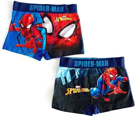 Boxer Spiderman Calzoncillos (Pack de 2) (9-10): Amazon.es: Ropa y ...