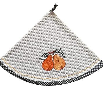 Ricami Fiorentini - Toallas Redondas de Cocina, Nido de Abeja, algodón 100% con Bordado. Producto Artesanal Toscano.: Amazon.es: Hogar