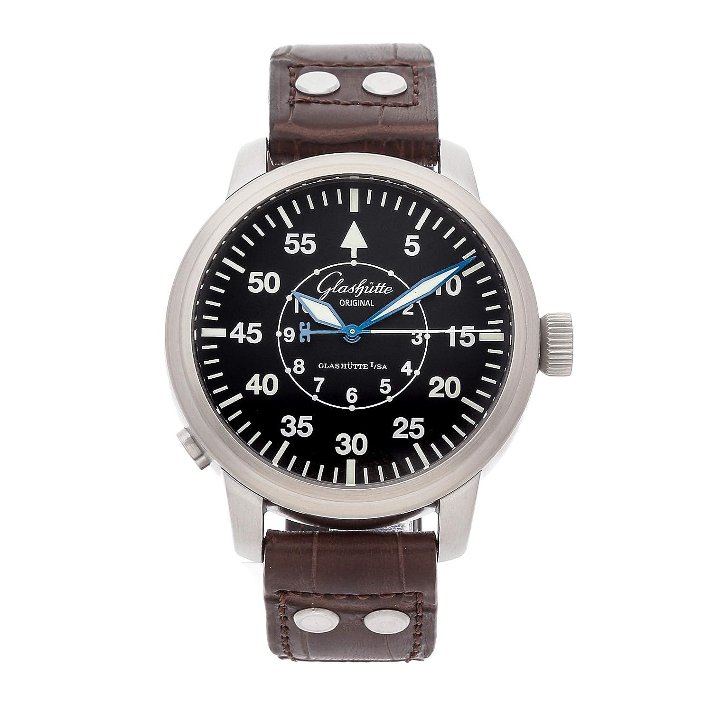 Glashutte Original Senator Mechanical (Automatic) Black Dial Mens Watch 100-09-07-05-04 (Certified Pre-Owned)