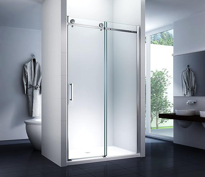 nichos para puerta deslizante Sistema ducha puerta Mampara técnicos ducha puerta corredera 150 x 195 cm ducha: Amazon.es: Bricolaje y herramientas