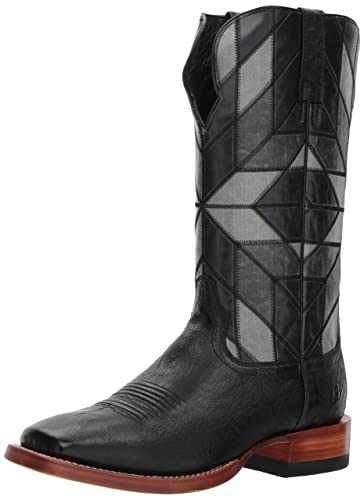 ea4d786917d ARIAT Men s Relentless World Champion Western Boot Black Smooth Quill  Ostrich Size 8 ...