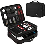 Matein Electronics Travel Organizer, Waterproof Electronic Accessories Case Portable Double Layer Cable Storage Bag for Cord,